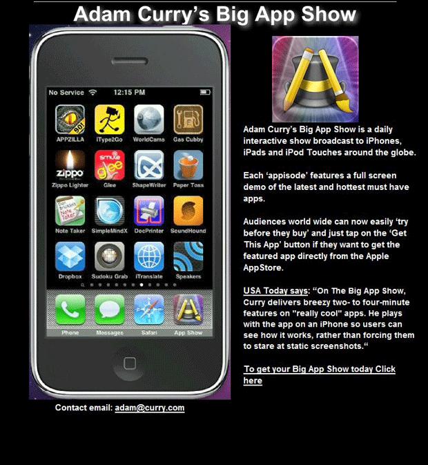 The Big App Show, te muestra cómo funcionan algunas aplicaciones en iOS 1