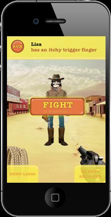 Duelos al estilo del lejano oeste, pero con tu iPhone 4