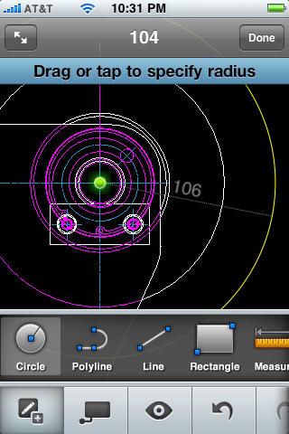 Lanzado AutoCAD WS para iPhone 3