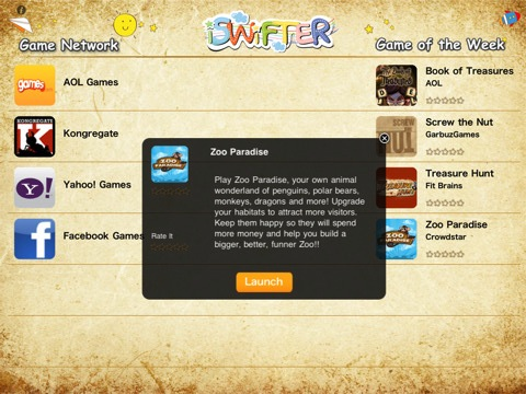 iSWiFTER, juegos flash en el iPad 1