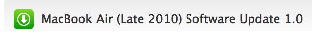 MacBook Air (Finales 2010) Software Update 1.0 9
