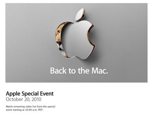 Sigue la Keynote de hoy en vivo : Back to the Mac 1