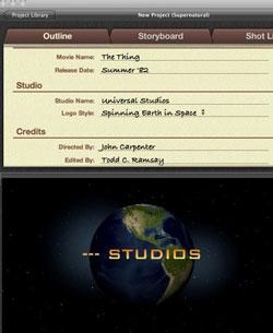 iMovie 11 no permite usar los nombres de los estudios Cinematográficos 8
