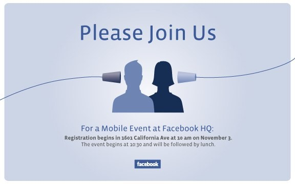 Facebook envía invitaciones para un evento este 3 de noviembre 1