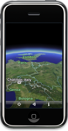 Google Earth para iPhone y iPod Touch 3
