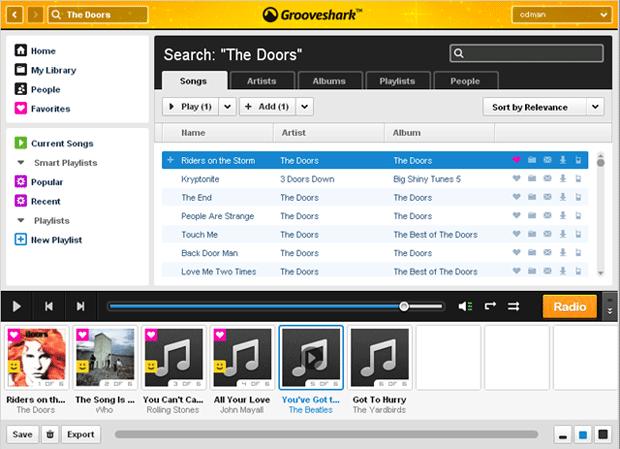 Grooveshark anuncia aumento en sus precios VIP 1