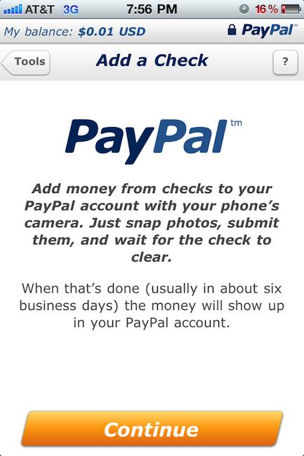 Añadir dinero a Paypal usando cheques ya es posible 7