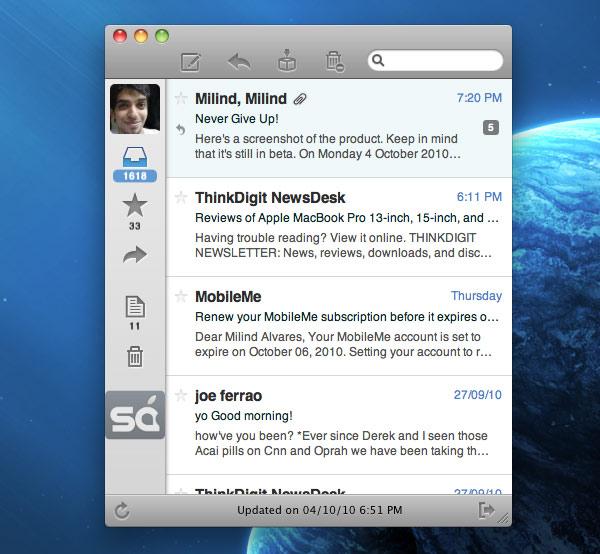 Sparrow: Nuevo cliente de correo para Mac. 3