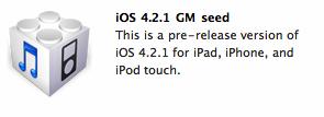 Apple suelta iOS GM Build 4.2.1 2