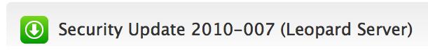 Actualización de rendimiento 1.0 para Mac OS X Leopard y Snow Leopard 2