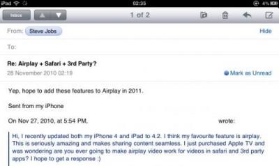 Apple ha liberado la beta 1 de iOS 4.3 7
