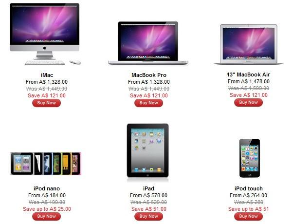 Apple Store Australia ya tiene online la rebaja de precios para el Black Friday 1