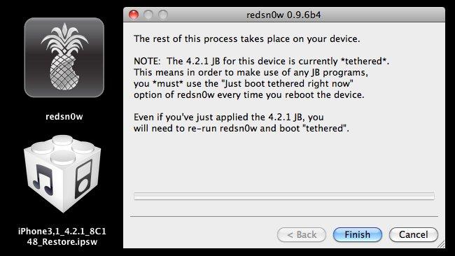 Jailbreak de iOS 4.2.1 ya disponible con Redsn0w 0.9.6b4 1