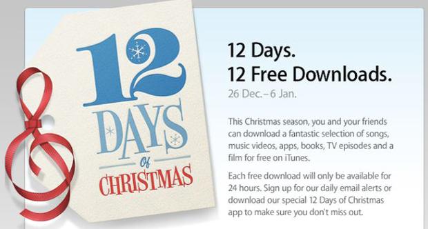 Apple anuncia: 12 días de navidad 1