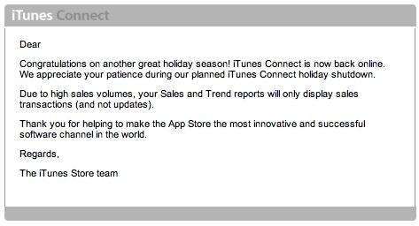 Nuevamente esta online iTunes Connect, para todos los desarrolladores 2