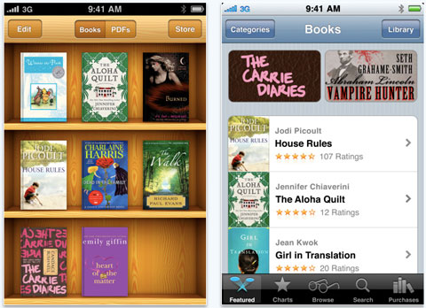 iBooks se actualiza a la versión 1.2 9