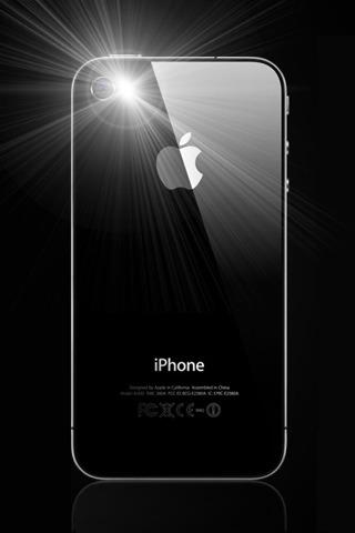 La aplicación de linterna para iPhone 4, esta gratuita 1