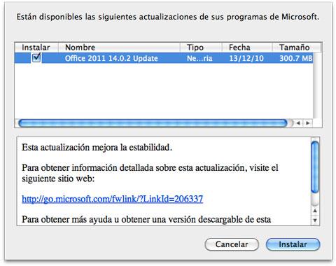 Capturas de pantalla de Office 2011 para Mac 3