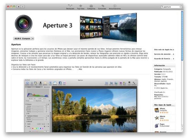 Apple lanza Aperture 2 7
