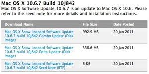 Mac OS X 10.6.7 ha sido enviada a los desarrolladores 10