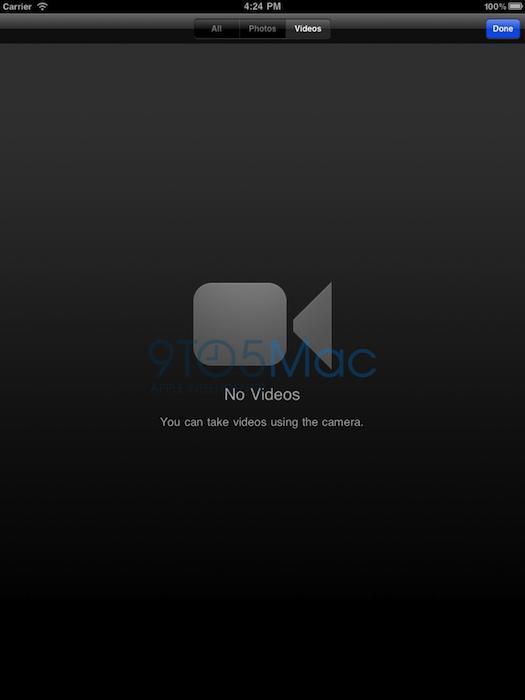 Se filtra la posible aplicación cámara del iPad 2 3