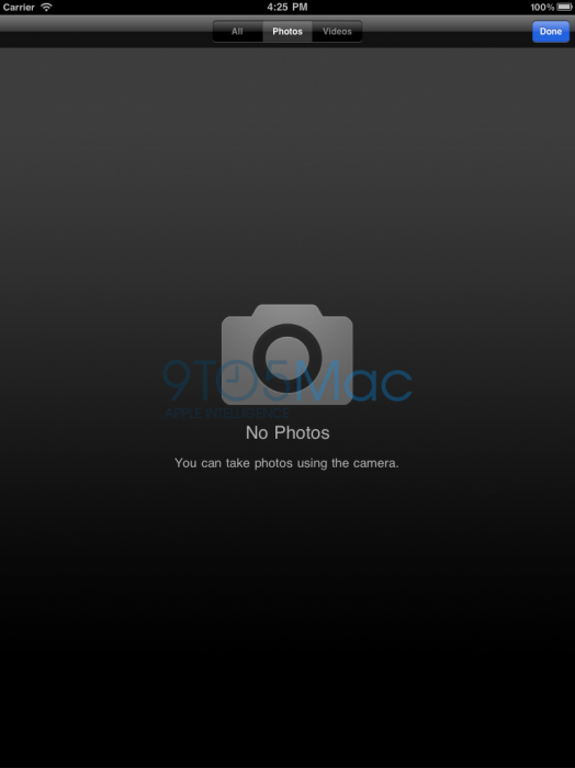 Se filtra la posible aplicación cámara del iPad 2 4