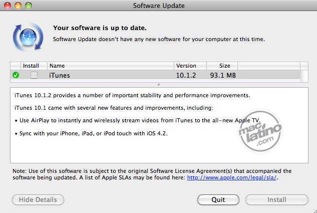 Descarga iTunes 10.1.2 para Mac OS X para Windows 1