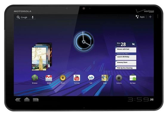 Motorola Xoom con Android 3.0 1