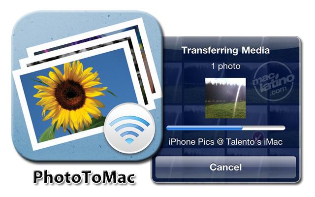 Transfiere tus fotos del iPhone a tu Mac por Wifi con PhotoToMac 2