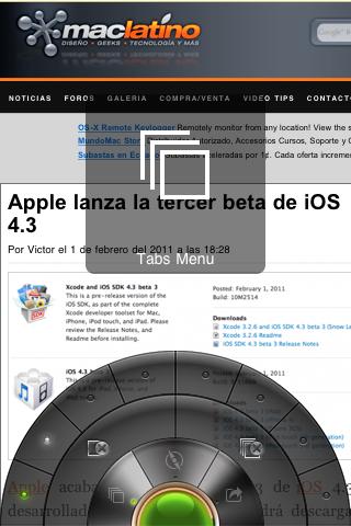Portal: Un innovador navegador para iPhone 3