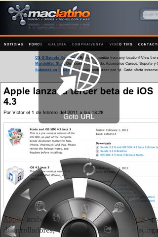 Portal: Un innovador navegador para iPhone 4