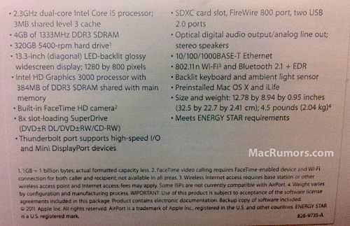 Se filtran las características del nuevo MacBook Pro de 13 pulgadas 1