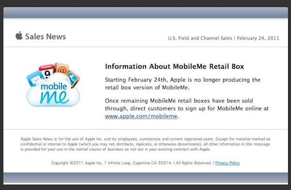 MobileMe ya no está disponible en las tiendas físicas y online 9