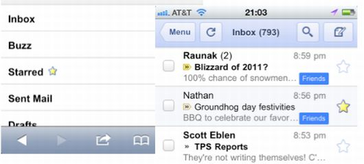 Gmail 1.1 para iPhone, iPad y iPod touch 6