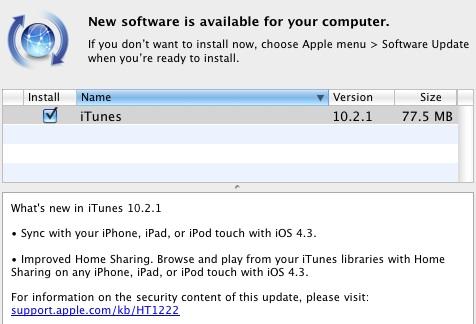Actualización de iTunes 10.1.1 1
