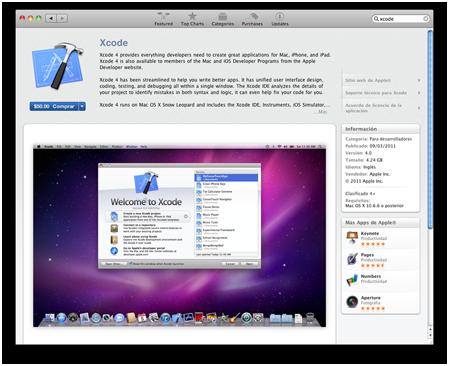 Actualización: Xcode 4.0 para Mac OS X e iOS 1