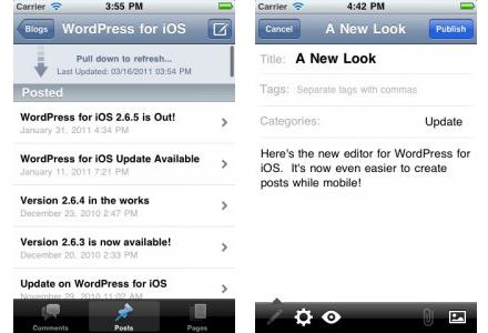 WordPress para iOS se actualiza a la versión 2.7 8