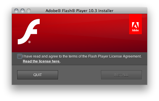Flash 10.3 Beta para Mac 1