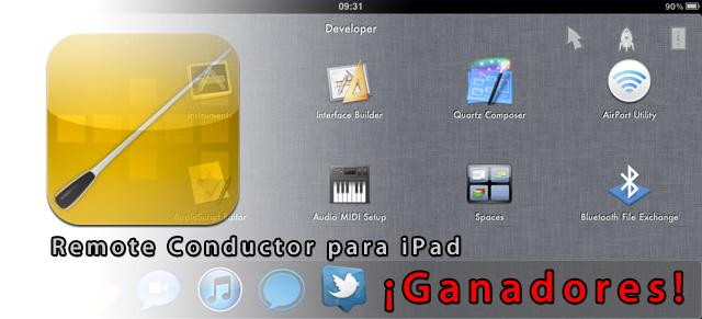 Ganadores del sorteo de licencias de Remote Conductor para iPad 1