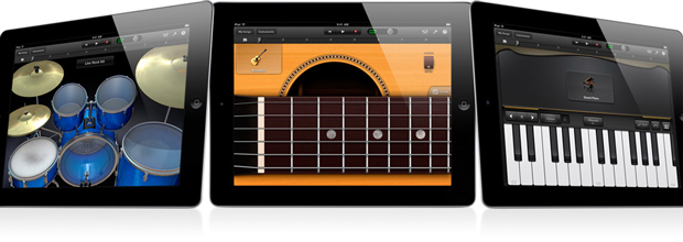 Demo en video de GarageBand para iPad 4