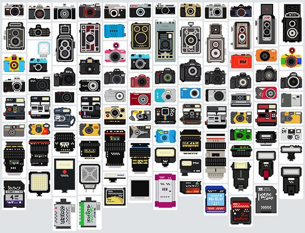 Equipo fotográfico en Pixeles
