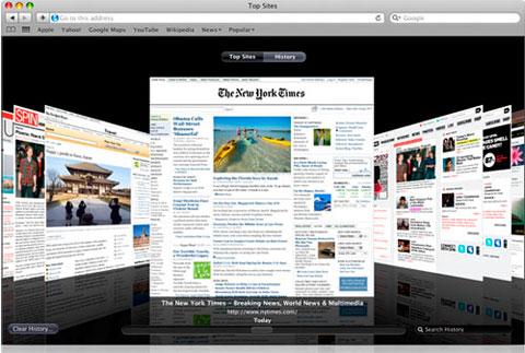Apple promete que la versión de Safari que incorporara Lion, será más rápida y estable 2