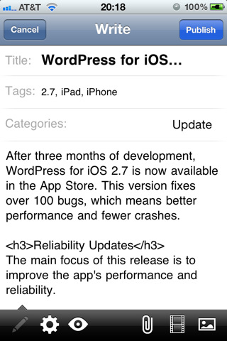WordPress lanza plugin para adaptar tu blog al iPad 6