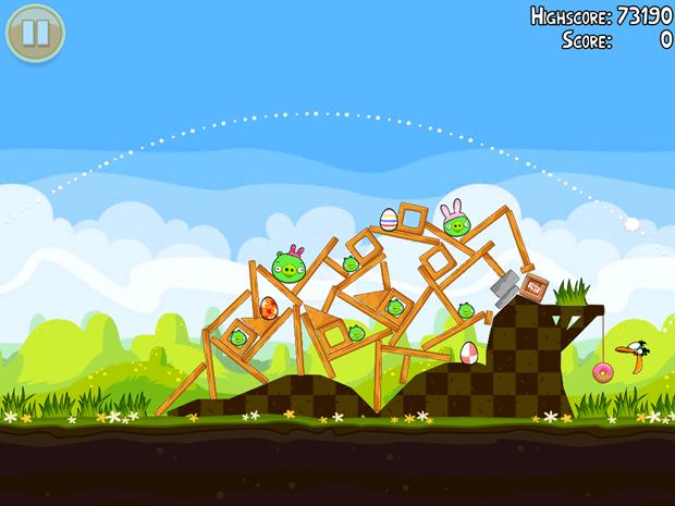 La próxima actualización de Angry Birds será conmemorativa a la pascua 2