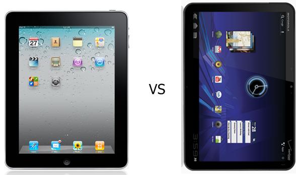Cámaras del iPad 2 vs Motorola Xoom vs Galaxy Tab 17