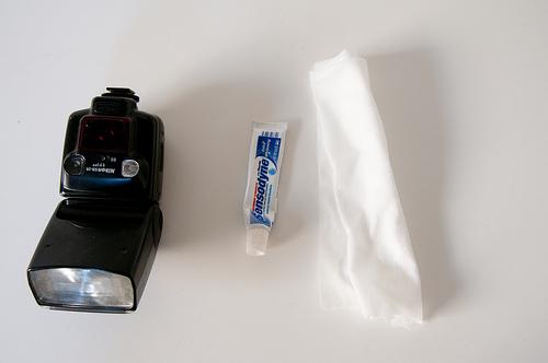 Limpia la cabeza de tu flash