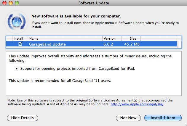 Ya se puede descargar GarageBand 4.1.2 4