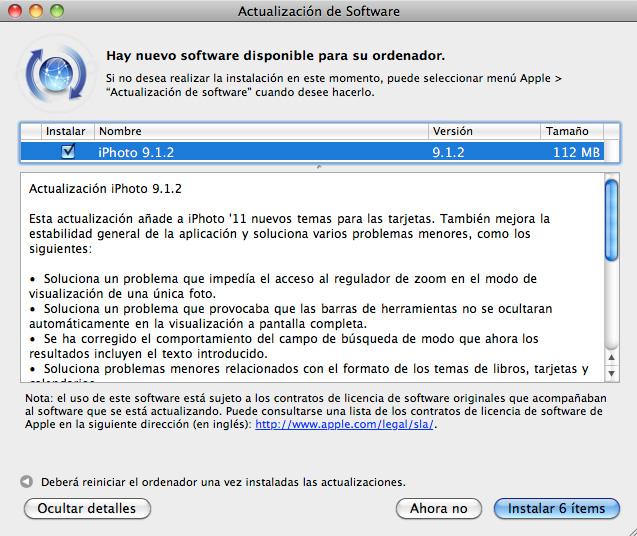 Ya puedes descargar iPhoto 6.0.6, el organizador y editor de fotografías de Apple 6