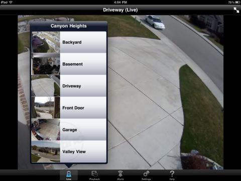 Sistema de seguridad por video con Logitech Alert para iPad 1