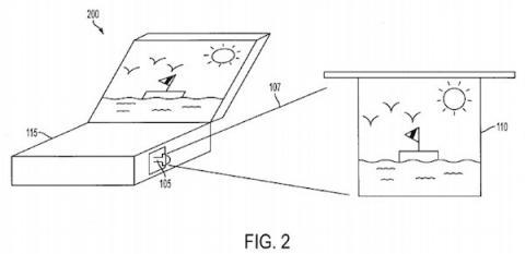 Patente con proyector laser en una MacBook 2